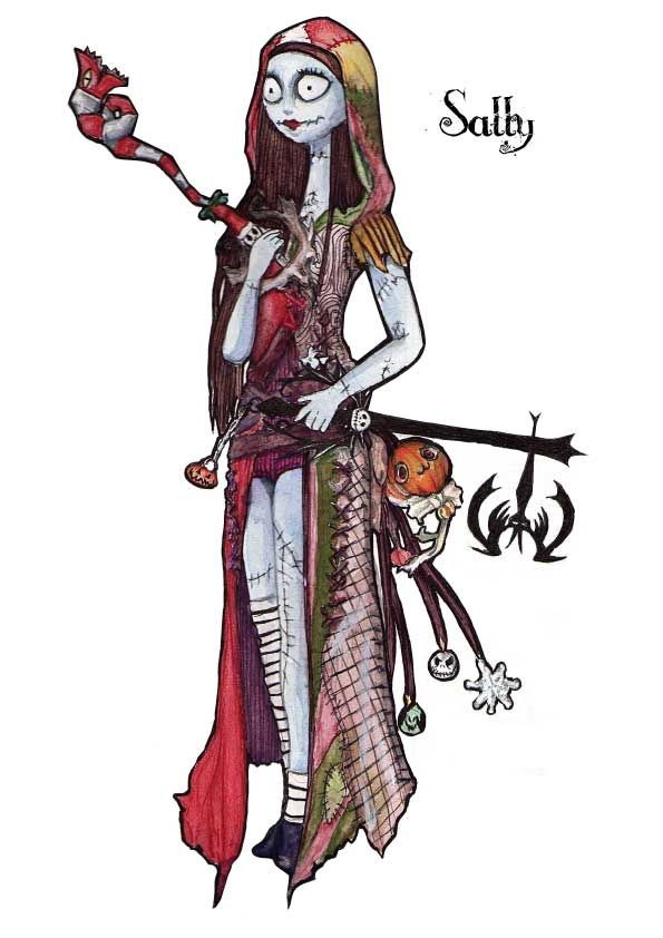 Sally Keyblade master / nightmare before christmas by ~lilice-XD ...