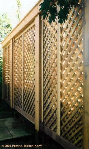 Lattice privacy screen decorative style south pasadena for Wood privacy screen panels