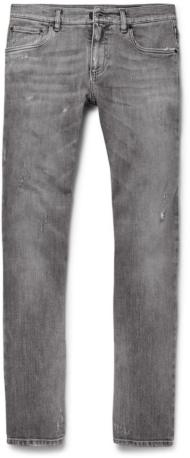 Skinny-fit Distressed Stretch-denim Jeans Dolce & Gabbana QawL3