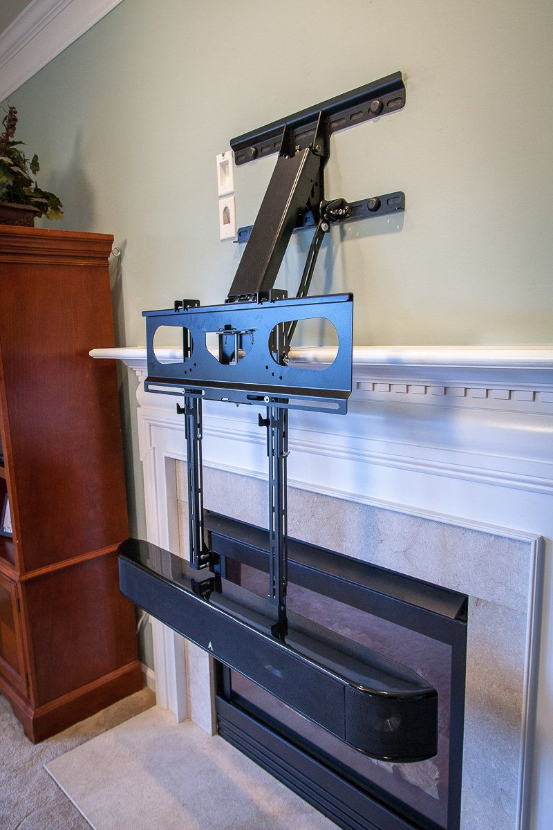Center Speaker Bracket Dynamic Mounting Tv Mount Over Fireplace Diy Fireplace Makeover Wall Mounted Fireplace