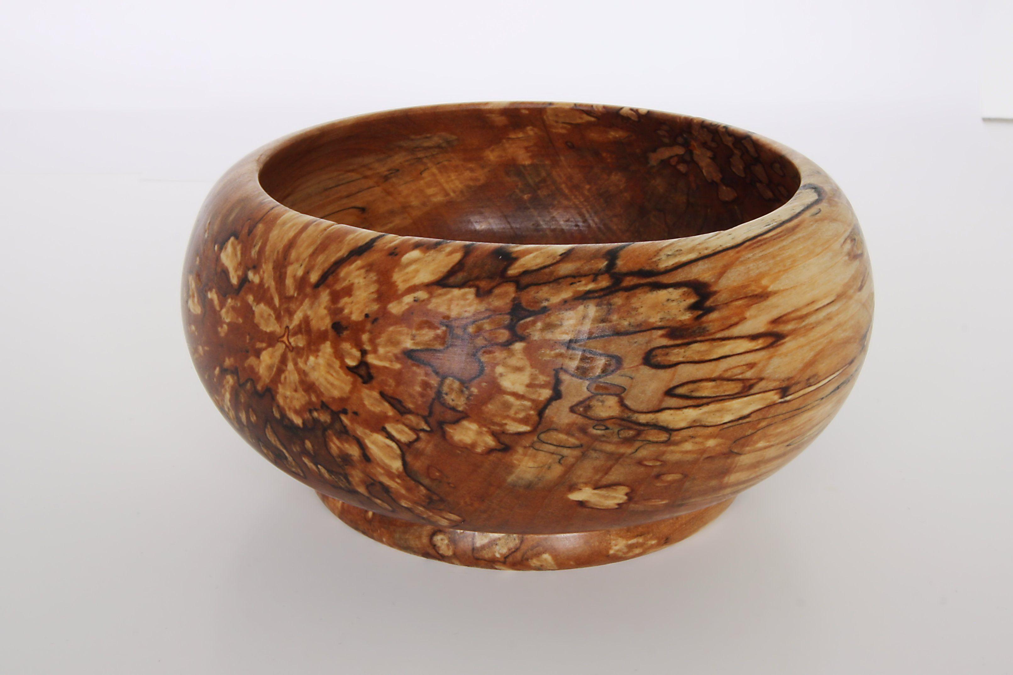 15 Cm Wood Bowl Wood Spalted Alder Finish 100 Tung Oil Bowl 10