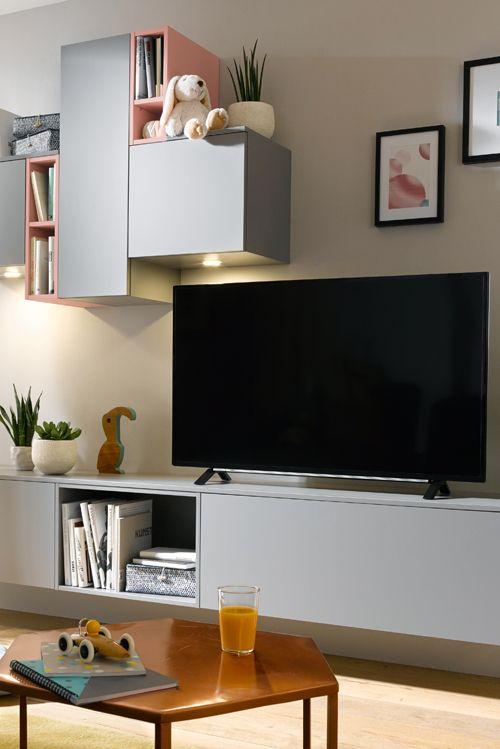 Eine Wohnwand, geplant aus Küchenmöbeln, harmoniert perfekt zu einer - ideen offene kuche wohnzimmer