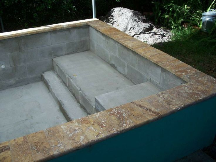 How to build a concrete block swimming pool summervibes - Cinder block swimming pool construction ...