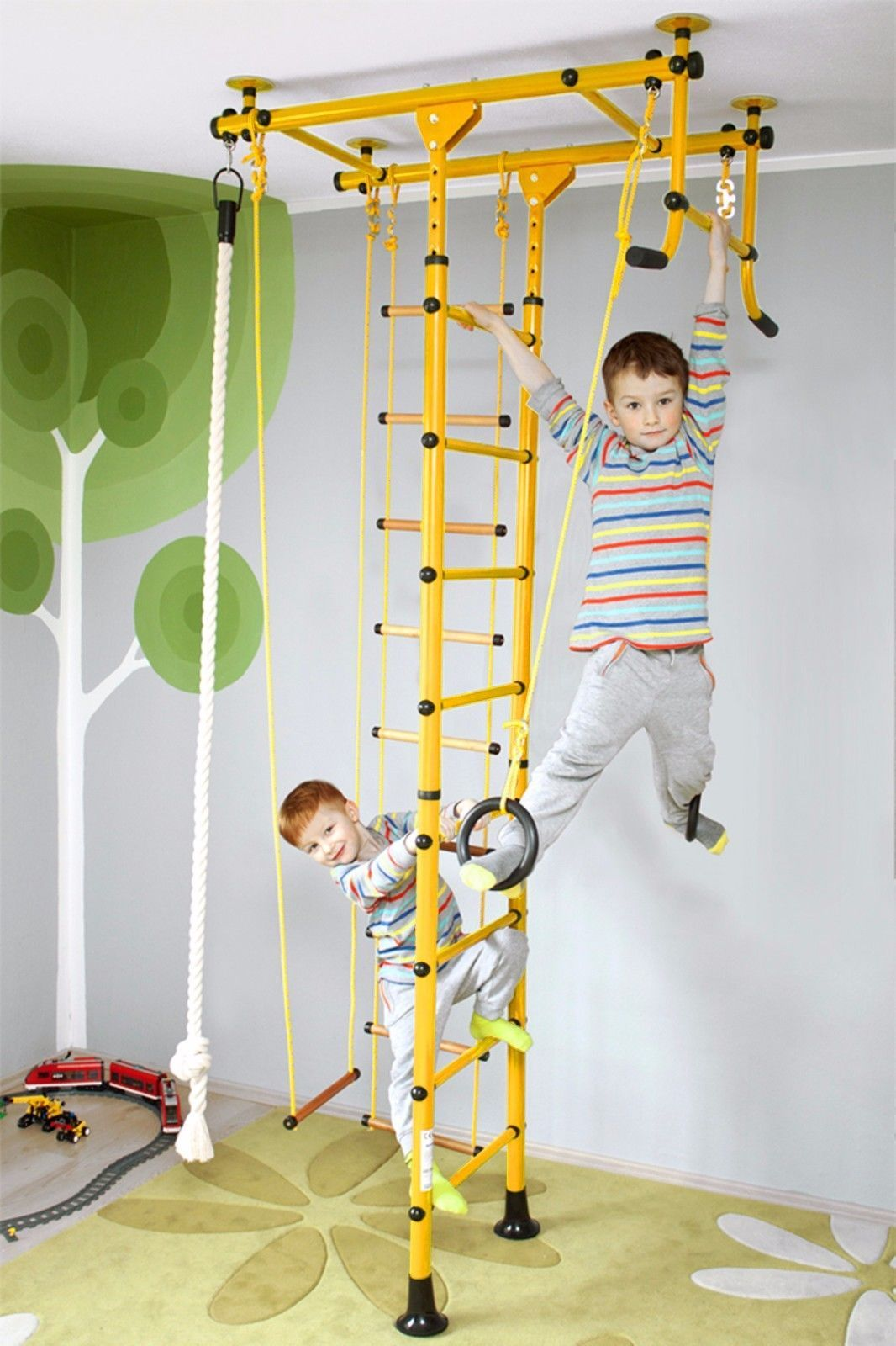 Indoor wall bars climbing frame kids sports device licensed for kg