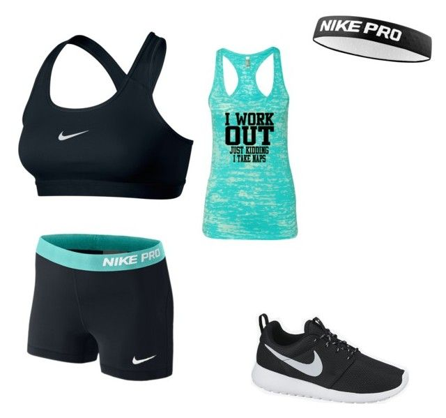 """""""Work out Nike✔️"""" by sammie-sadler ❤ liked on Polyvore featuring beauty and NIKE"""