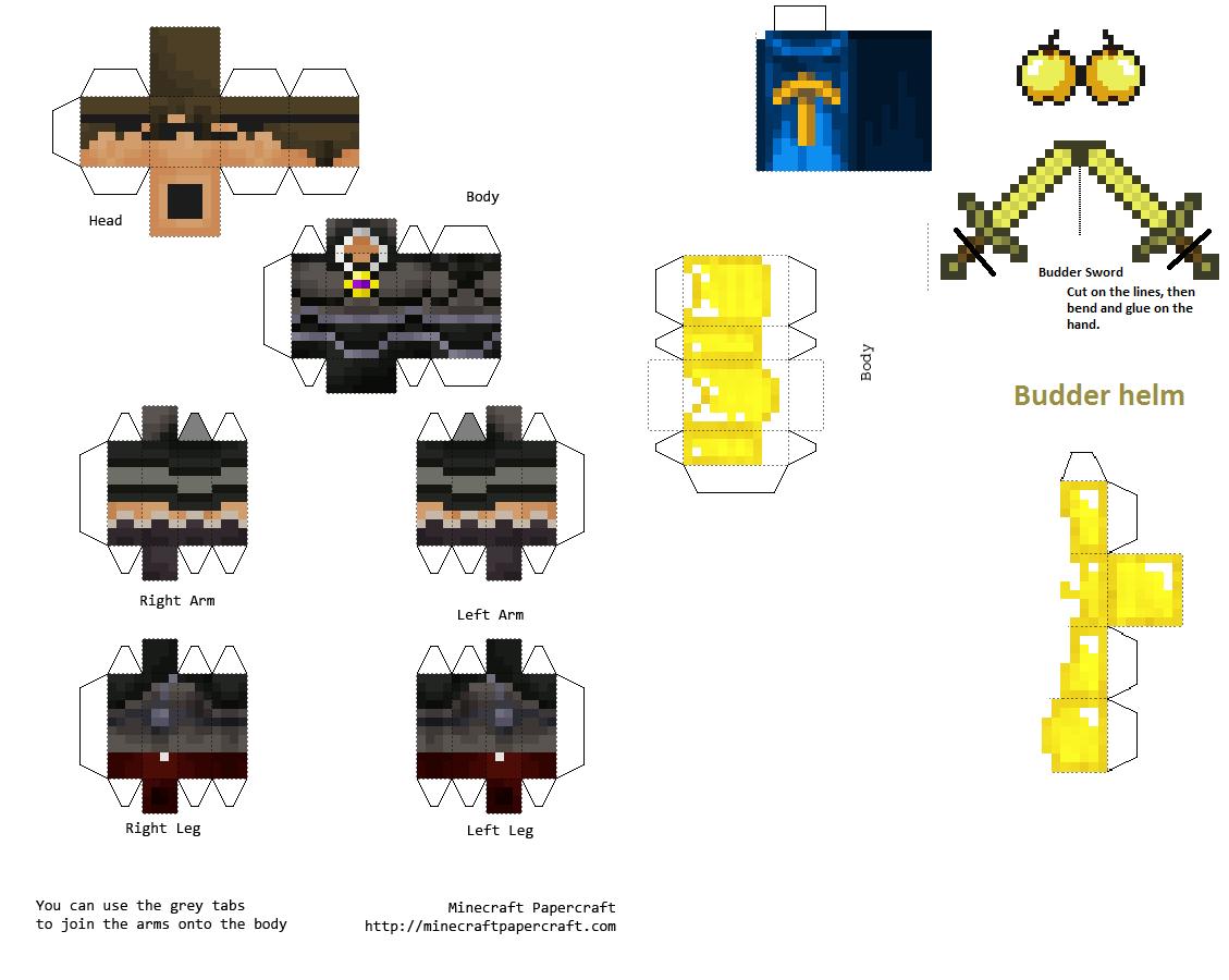 Papercraft Sky Does Minecraft Budder Pack Minecraft