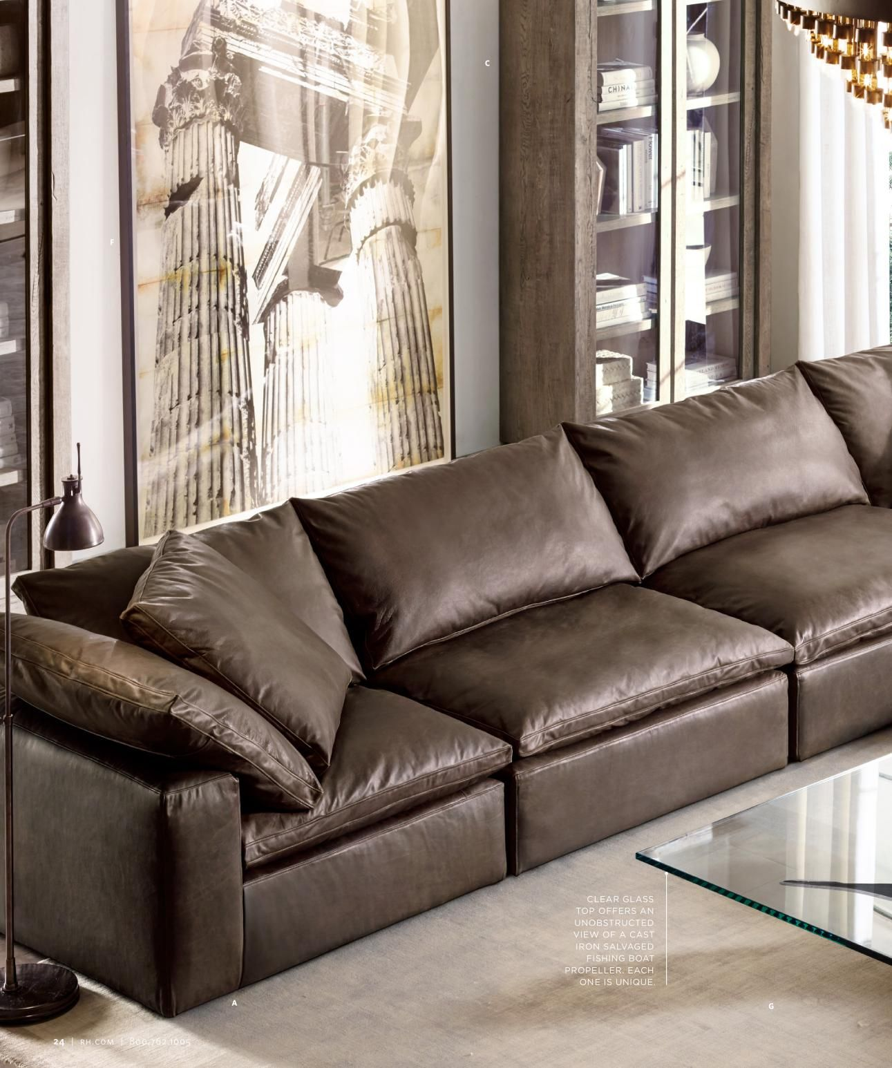Rh Cloud Leather Sofa I Want It In White Beach House Living
