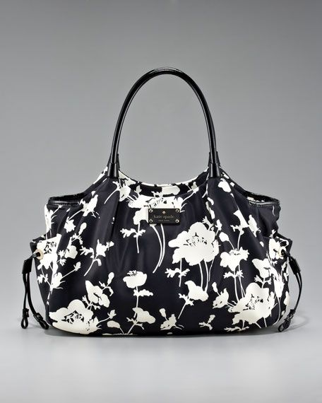 kate spade stevie.. love the black and white pattern.