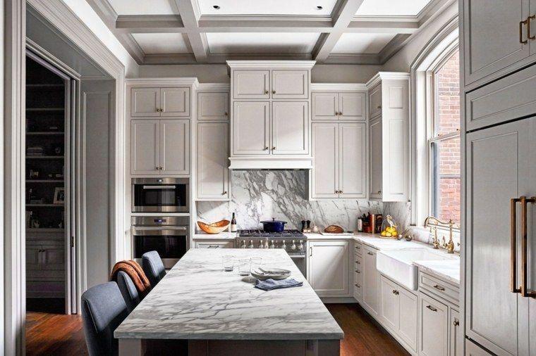 Arbeitsplatte aus Marmor, wie schmückt man die Küche Küchen 2018 - naturstein arbeitsplatte küche