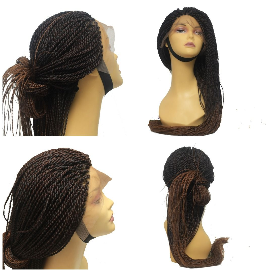 Senegalese Twist Fully Hand Braided Ombre Wig (33/30)   Wig, Ombre ...