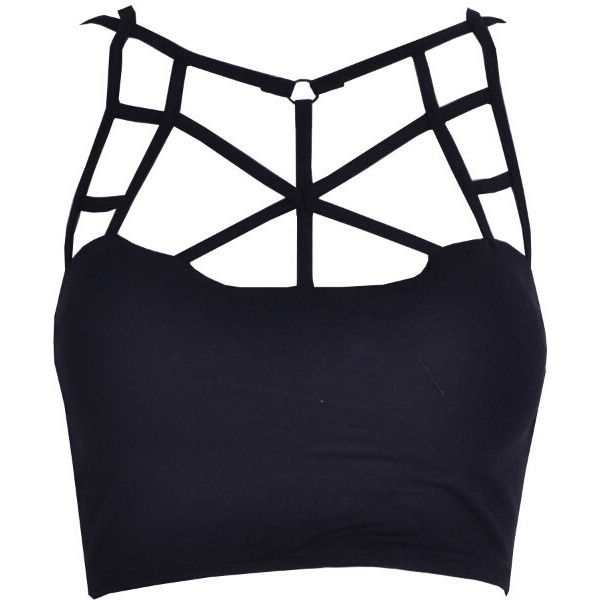 631a10de0baef5 Cute Cut-Out Crop Top ( 33) ❤ liked on Polyvore featuring tops ...