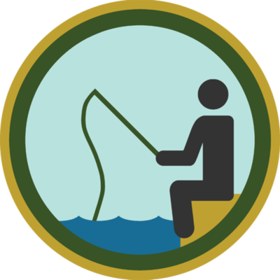 Fishing Badge: My dad and I went fishing in a couple of those inflatable rafts on the canal when I was a kid. His had a hole and it slowly deflated. He made it to the dock floating in his own mini pool