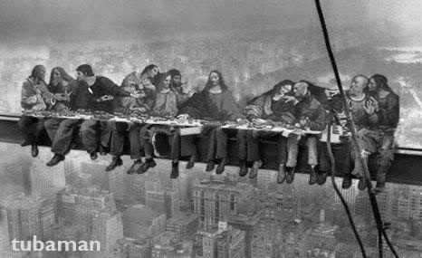 Lunch atop a skyscraper ebbets la cène