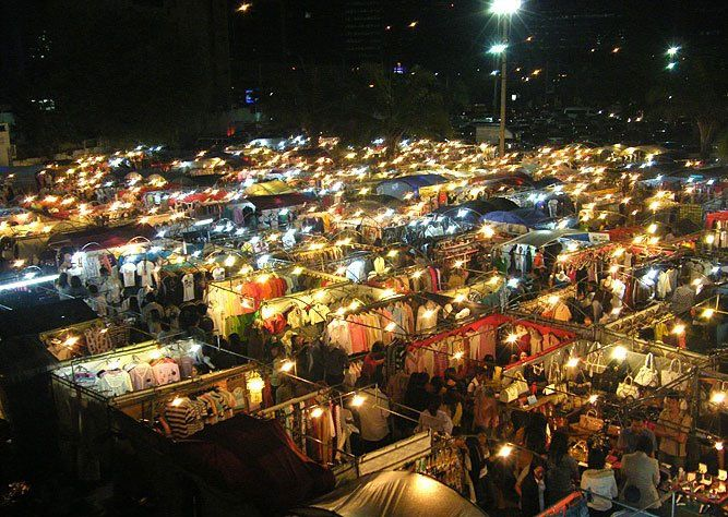 The lesser known market Ratchayothin Night Market but has ...