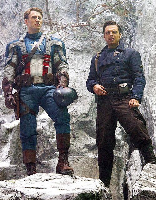 Steve Rogers and Bucky Barnes for HUGO Boss Winter