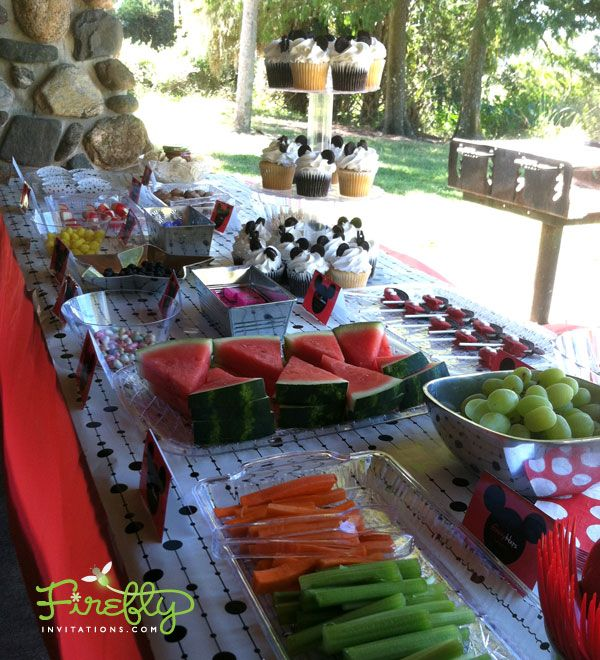 MICKEY MOUSE BIRTHDAY FOODS Mickey Mouse Birthday Party Food Table