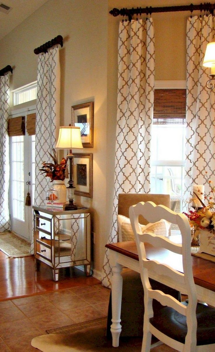 90+ Awesome Modern Farmhouse Curtains for Living Room ... on Farmhouse Curtain Ideas For Living Room  id=36270
