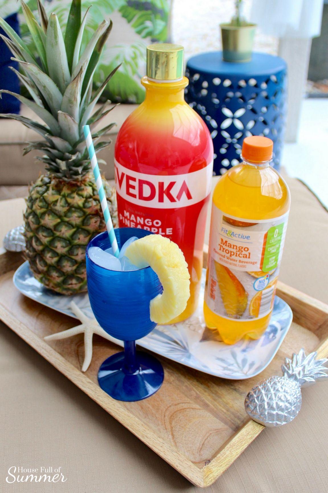 Simple Mango Pineapple Cocktail Recipe Mango Vodka Pineapple