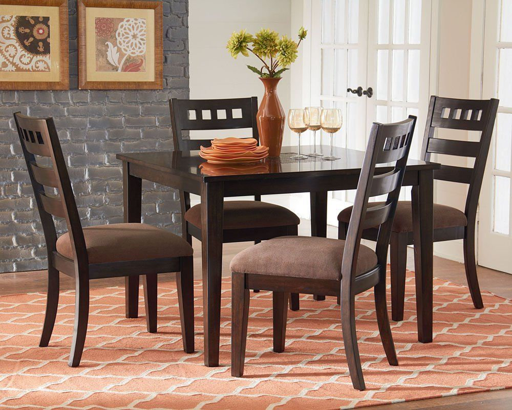 Sparkle 5 Pc Leg Table 4 Chairs Furniture Dining Room Sets