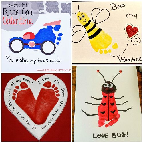 Here Is A Bunch Of Footprint Valentines Day Craft Ideas For The Kids