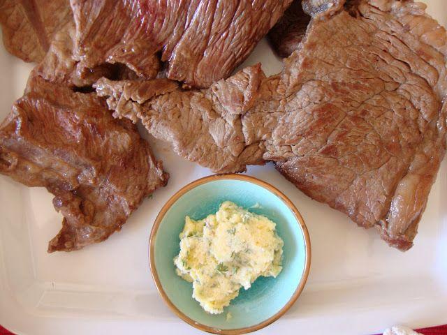 As Minhas Receitas: Bifes com Manteiga de Alho e Tomilho