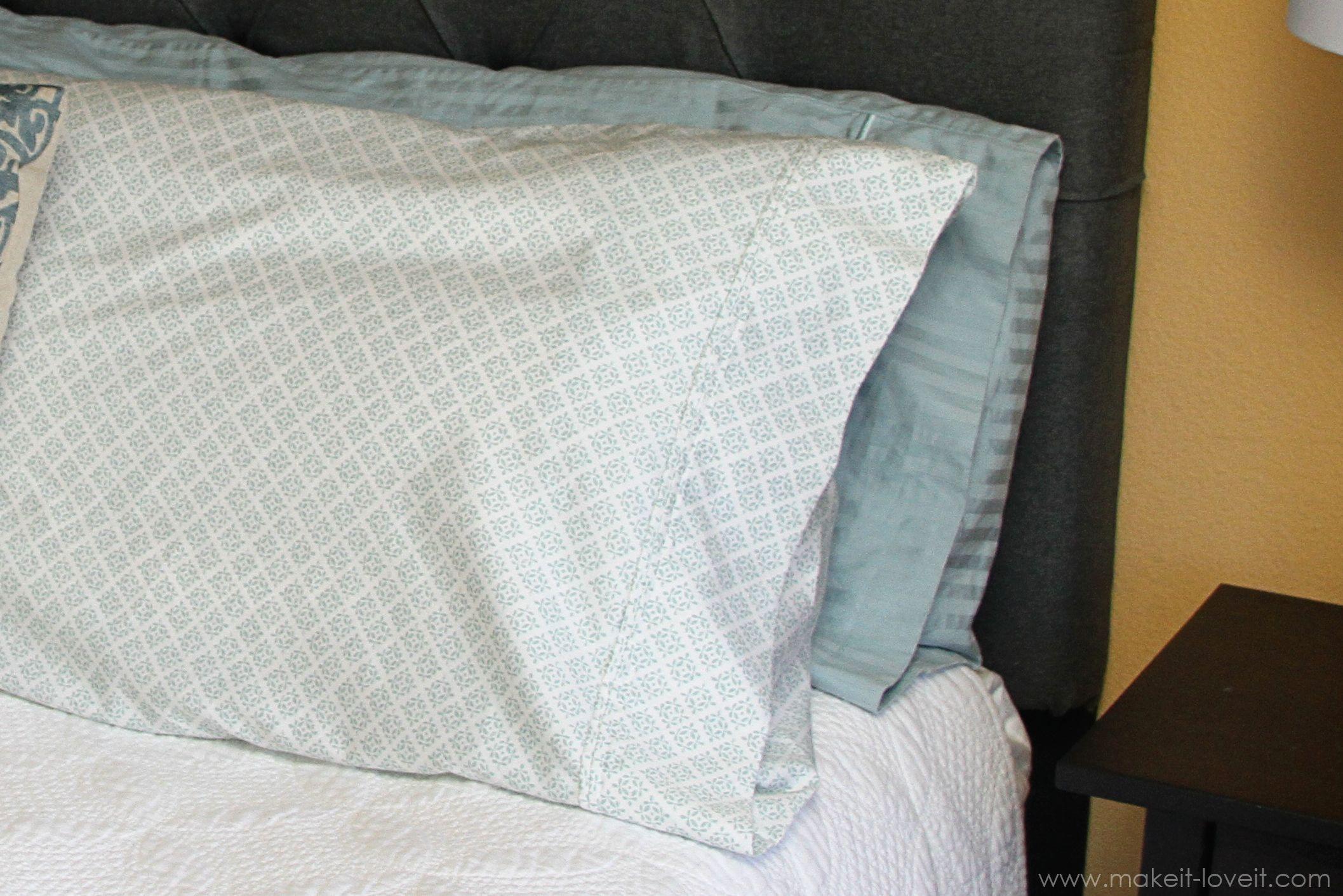 DIY Tutorial DIY Pillow Shams / DIY Envelope Closure Pillowcase (for bed pillows) - Bead\u0026Cord & Envelope Closure Pillowcase (for bed pillows) | Sewing Projects ... pillowsntoast.com