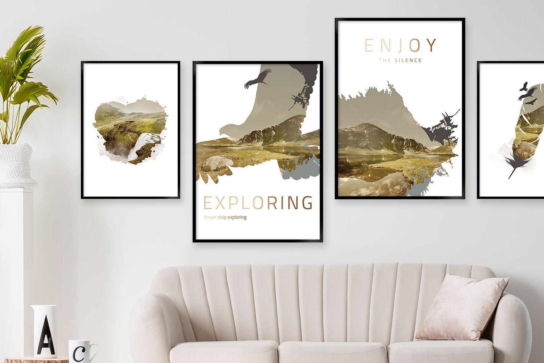Plakat Plakatsæt no11 - Stil: Natur   Plakater, Plakat væg ...