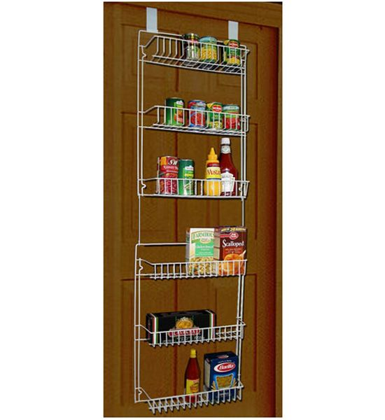 Storage Dynamics Vinyl Covered Steel Over door Storage Basket Rack You\u0027ll love how much extra space this 5 foot over door rack gives you.  sc 1 st  Pinterest & Handy storage baskets install without tools on doors measuring 1 3 ...