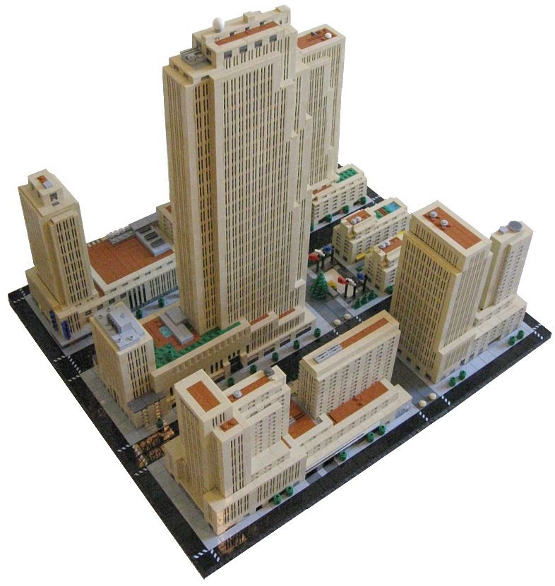 Rockefeller Center New York With Images Micro Lego Lego House Lego Worlds