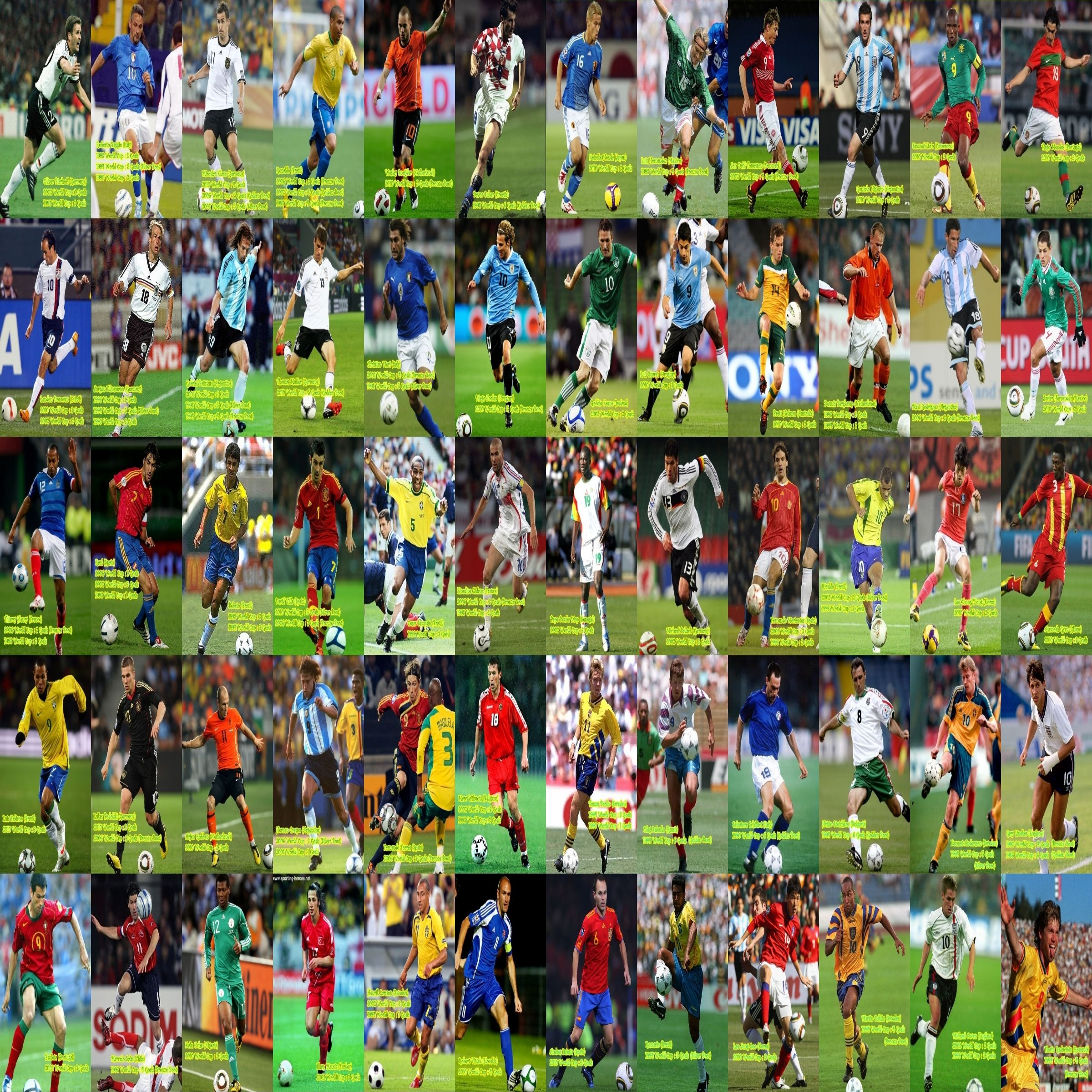 Fifa World Cup 60 All Star Players Brazil World Cup Fifa World Cup Fifa