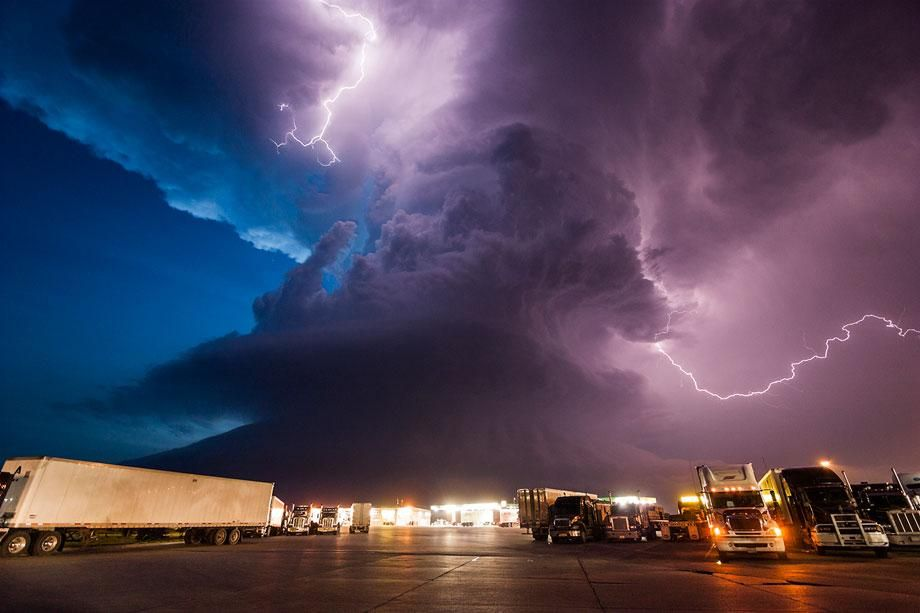 Mike Hollingshead's storm-chasing photography doesn't include Hurricane Sandy.