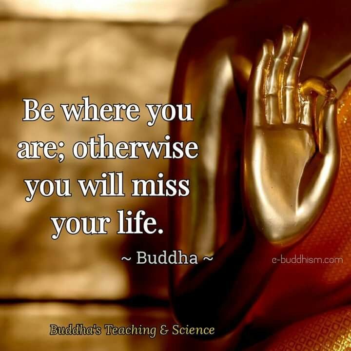 Be Where You Are. Otherwise You Will Miss Your Life...#Be