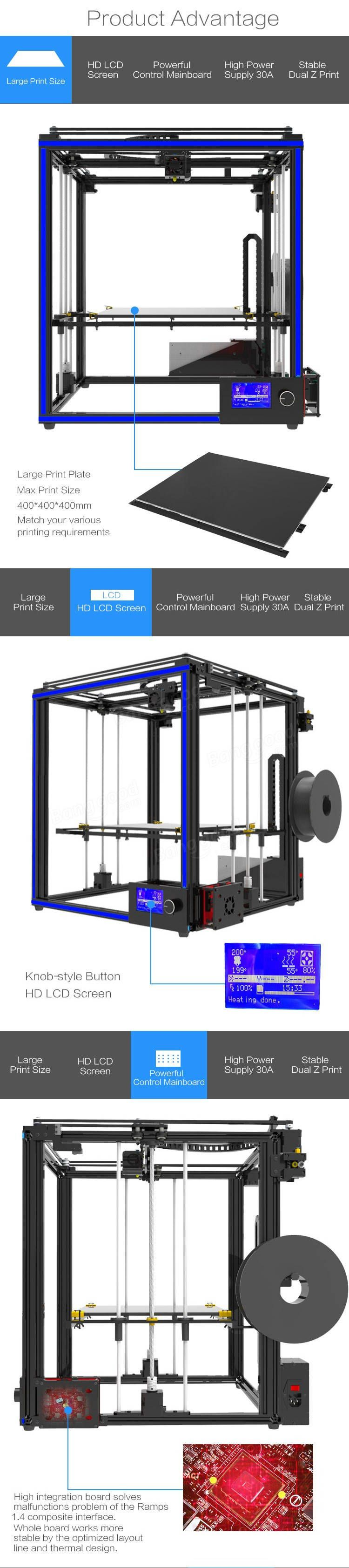 TRONXY® X5S-400 DIY Aluminum 3D Printer Kit 400*400*400mm