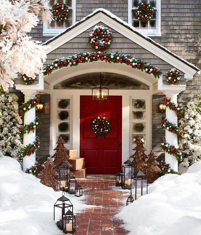 Outdoor Holiday Decor Ideas Part - 23: Creative Ways To Decorate Your Holiday Front Porch