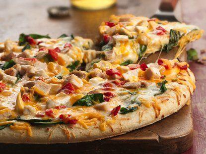 Pizza De Espinacas Y Pollo Con Doble Queso Recipe 300 Calorie