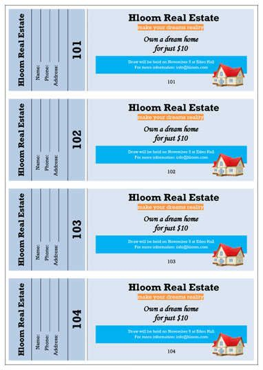 samples Of Raffle Tickets Ticket Template Word event Ticket