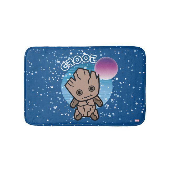 Kawaii Groot In Space Bath Mat #cartoon #groot #kawaii #groot #cute #BathMat