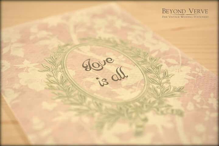 Romantic love is all invitation - Vintage wedding stationery - Beyond Verve