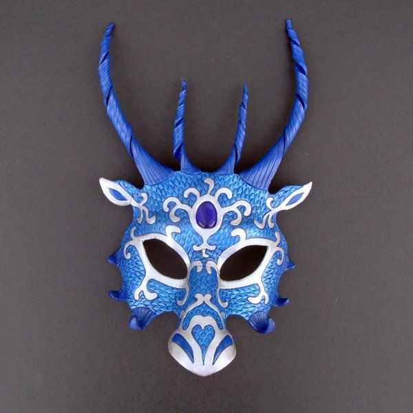 f95c581e7646 Blue Dragon Mask by *merimask on deviantART - Someday I want to have a real masquerade  ball and wear something like this.