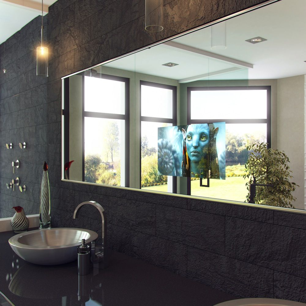 TV Mirror Bathroom, Mirror TV Frame, Dielectric TV Mirror, After Staying At  Omni