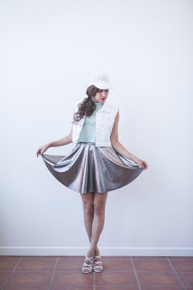 DIY Metallic Circular Skater Skirt - FREE Sewing Pattern and ...