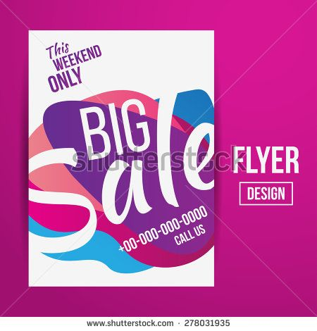 Abstract Vector Creative Sale Flyers can be used as poster or – Sale Flyer Design