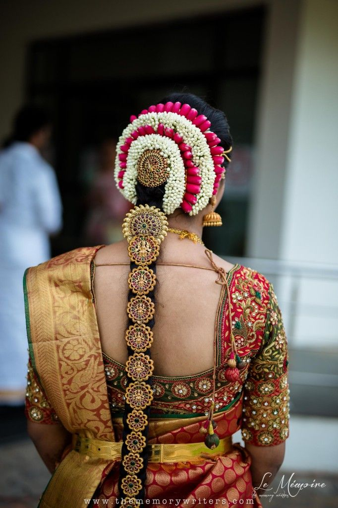 A Mother S Beautiful Bride Indian Bride Hairstyle South Indian Bride Hairstyle Bridal Fashion Jewelry
