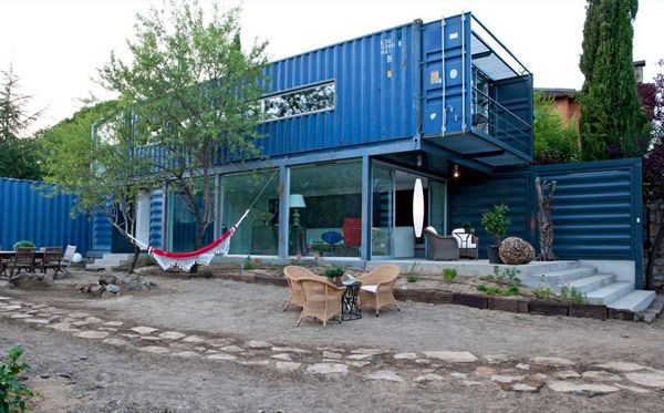 Storage container transformed into a home.