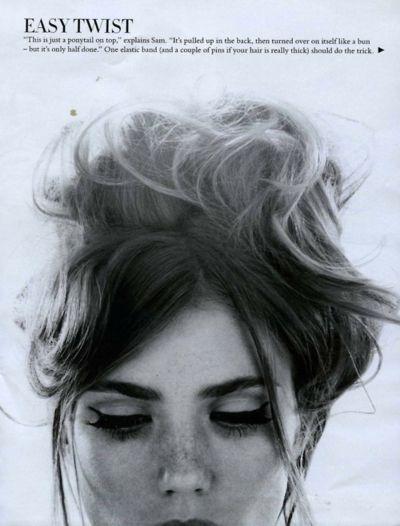 easy twist + cat eyes #hair #makeup #make-up