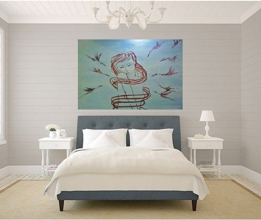"""Misakara limited edition prints to your home decor! """"Crane Wife"""" in this photo is available at www.misakara.com webstore!"""