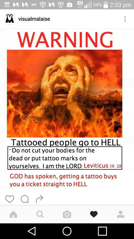 Leviticus 19:28King James Version (KJV) 28 Ye shall not make any