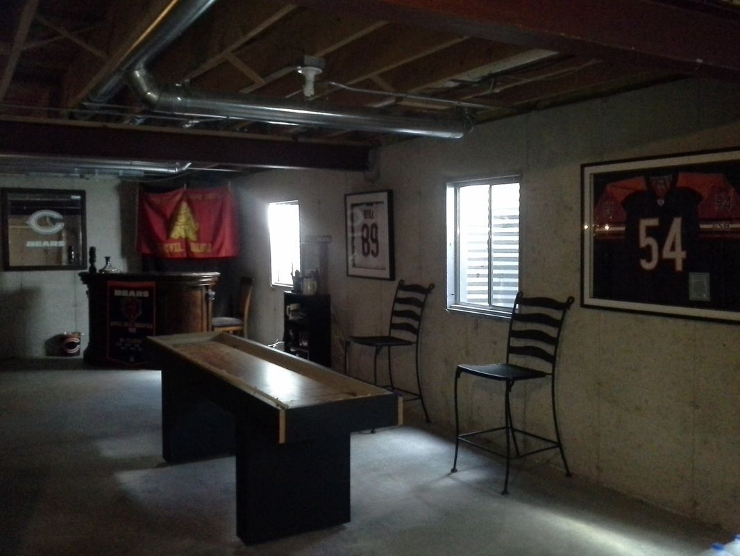 We Have An Achilles Heel When It Comes To Our House It S The Basement So We Came Up With Some In Unfinished Basement Small Basement Remodel Man Cave Basement