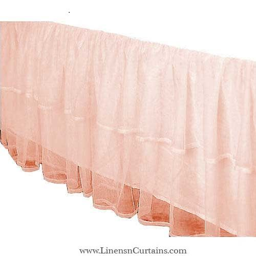 Adorable Peach Tulle Crib Skirt Mini Crib Skirt Layered Tiered Dust Ruffle In All Drop Lengths Tulle Crib Skirts White Tulle Skirt Crib Skirts