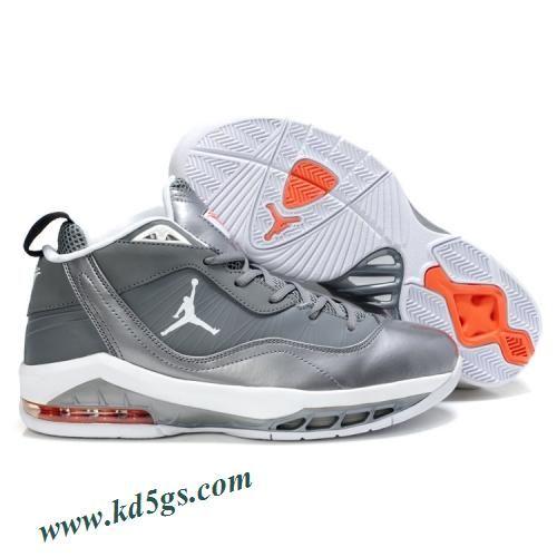 buy online b70e9 19d1d Air Jordan Melo M8 Carmelo Anthony Shoes Cool Grey White Orange